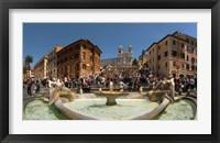 Framed Fontana Della Barcaccia at Piazza Di Spagna, Rome, Lazio, Italy