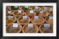 Framed Spices for Sale in a Weekly Market, Arles, Bouches-Du-Rhone, Provence-Alpes-Cote d'Azur, France
