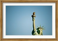 Framed Low angle view of the Statue Of Liberty, Liberty Island, New York City, New York State, USA