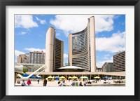 Framed Toronto City Hall, Nathan Phillips Square, Toronto, Ontario, Canada