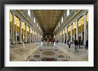 Framed Tourists at a church, Santa Maria Maggiore Church, Rome, Lazio, Italy