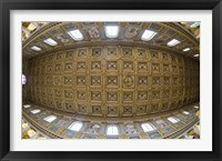 Framed Ceiling details of a church, St. Peter's Basilica, St. Peter, Chains, Rome, Lazio, Italy
