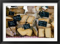 Framed Cheese for sale at a market stall, Lourmarin, Vaucluse, Provence-Alpes-Cote d'Azur, France