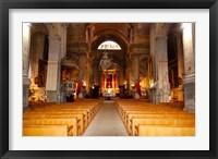 Framed Interiors of a church, Saint Esprit Church, Aix-En-Provence, Bouches-Du-Rhone, Provence-Alpes-Cote d'Azur, France