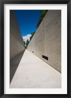 Framed Courtyard to Bergen-Belsen WW2 Concentration Camp Memorial, Lower Saxony, Germany
