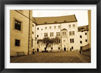 Framed Facade of the castle site of famous WW2 prisoner of war camp, Colditz Castle, Colditz, Saxony, Germany