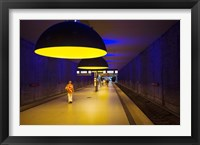 Framed Interiors of an underground station, Westfriedhof, Munich U-Bahn, Munich, Bavaria, Germany