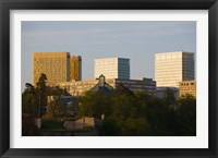 Framed Buildings in a city, Kirchberg Plateau, Luxembourg City, Luxembourg