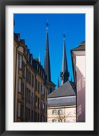 Framed Church in the city, Notre Dame Cathedral, Luxembourg City, Luxembourg