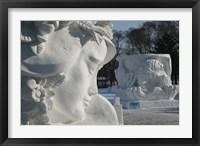 Framed Snow sculptures at Harbin International Sun Island Snow Sculpture Art Fair, Harbin, Heilungkiang Province, China
