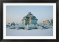 Framed Ice building at the Harbin International Ice and Snow Sculpture Festival, Harbin, Heilungkiang Province, China