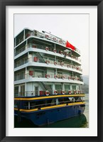 Framed Yangtze River Cruise Ship, Yangtze River, Chongqing Province, China