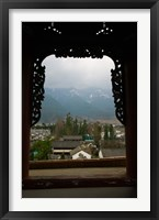 Framed Old town viewed from North Gate, Dali, Yunnan Province, China