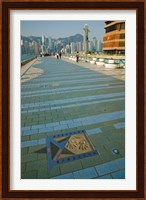 Framed Plaque and Handprints of Jackie Chan, Avenue Of The Stars, Victoria Harbour, Kowloon, Hong Kong, China