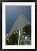 Framed Trees in front of a building, Two International Finance Centre, Central District, Hong Kong Island, Hong Kong
