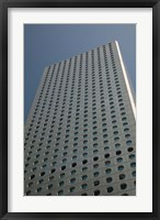 Framed Low angle view of a building, Jardine House, Central District, Hong Kong Island, Hong Kong