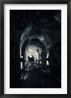 Framed Pommery Champagne Winery Passageway, Reims, Marne, Champagne-Ardenne, France (black and white)