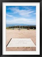 Framed Le Struthof former Nazi concentration camp memorial, Natzwiller, Bas-Rhin, Alsace, France