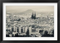 Framed Cityscape with Cathedrale Notre-Dame-de-l'Assomption in the background, Clermont-Ferrand, Auvergne, Puy-de-Dome, France