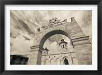 Framed Entrance of a Winery, Chateau Cos d'Estournel, St-Estephe, Haut Medoc, Gironde, Aquitaine, France