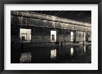Framed Interiors of World War Two-era Nazi submarine, Bordeaux, Gironde, Aquitaine, France