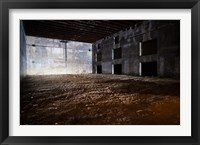 Framed Interiors of World War Two-era Nazi submarine base now an art gallery, Bordeaux, Gironde, Aquitaine, France