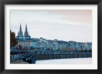 Framed City at the waterfront, Garonne River, Bordeaux, Gironde, Aquitaine, France