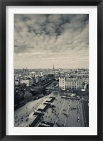 Framed Aerial view of a city viewed from Notre Dame Cathedral, Paris, Ile-de-France, France