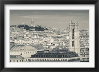 Framed City with St. Jacques Tower and Basilique Sacre-Coeur viewed from Notre Dame Cathedral, Paris, Ile-de-France, France