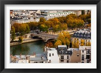 Framed Seine River and city viewed from the Notre Dame Cathedral, Paris, Ile-de-France, France