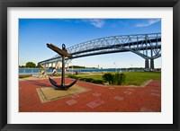 Framed Blue Water Bridge at Port Huron, Michigan, USA