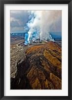 Framed Steaming Volcano, Kilauea, Kauai, Hawaii