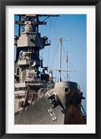 Framed Close UP of USS Missouri, Pearl Harbor, Honolulu, Oahu, Hawaii