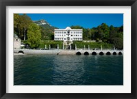 Framed Villa at the waterfront, Villa Carlotta, Tremezzo, Lake Como, Lombardy, Italy