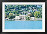Framed Buildings on a hill, Villa Olmo, Lake Como, Lombardy, Italy
