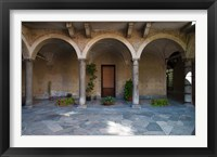 Framed Courtyard of a building, Como, Lombardy, Italy