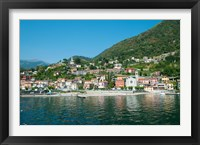 Framed Building in a town at the waterfront, Argeno, Lake Como, Lombardy, Italy