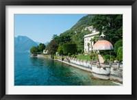 Framed Home along a lake, Lake Como, Sala Comacina, Lombardy, Italy