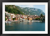 Framed Buildings in a Town at the Waterfront, Varenna, Lake Como, Lombardy, Italy