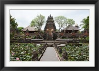 Framed Facade of the Pura Taman Saraswati Temple, Ubud, Bali, Indonesia