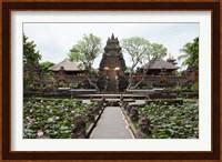 Framed Facade of the Pura Taman Saraswati Temple, Ubud, Bali, Indonesia