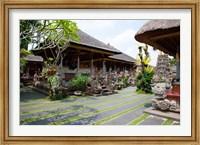 Framed Inner grounds of the 1950's Pura Taman Saraswati temple, Ubud, Bali, Indonesia