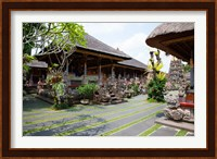 Framed Inner grounds of the 1950's Pura Taman Saraswati temple, Ubud, Bali, Indonesia