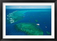 Framed Aerial View of Great Barrier Reef, Queensland, Australia