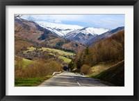Framed Mountain road in a valley, Tatra Mountains, Slovakia