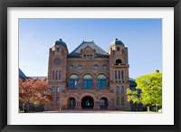Framed Facade of a building in Queens Park, Toronto, Ontario, Canada