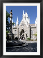 Framed Facade of the Salt Lake Assembly Hall, Temple Square, Salt Lake City, Utah, USA