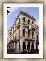 Framed Buildings along the street, Havana, Cuba