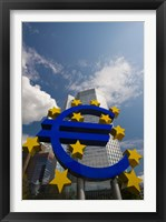 Framed Euro Sign, Frankfurt, Germany (vertical)