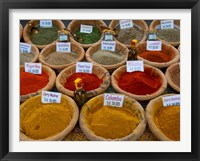 Framed Colorful Spices for Sale in Arles, Bouches-Du-Rhone, Provence-Alpes-Cote d'Azur, France